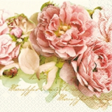 Servilleta decoupage Mary roses