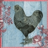 Servilleta decoupage Painted rooster