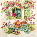 Servilleta decoupage Backyard garden