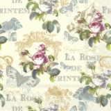 Servilleta decoupage Rose de printems cream(25x25)