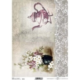 Papel arroz decoupage R0718