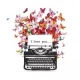 Servilleta decoupage I love you
