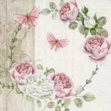 0Servilleta decoupage Roundel of roses