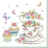 Servilleta decoupage Cup and cupcakes