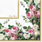0Servilleta decoupage Royal flowers