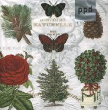 Servilleta decoupage Holiday flora
