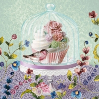 Servilleta decoupage Cupcake in glass