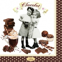 0Servilleta decoupage Chocolate vintage