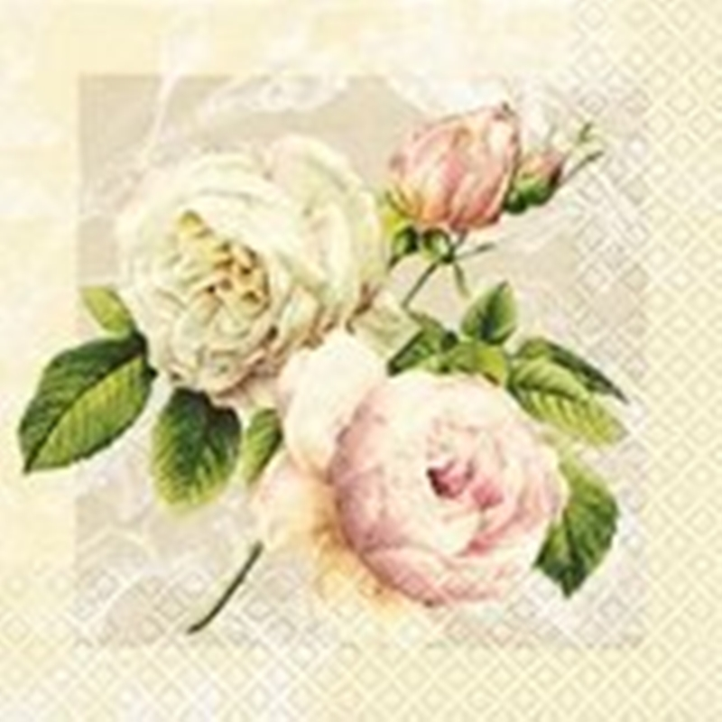 Servilleta decoupage Cottage Rose
