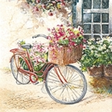 Servilleta decoupage Flower bike