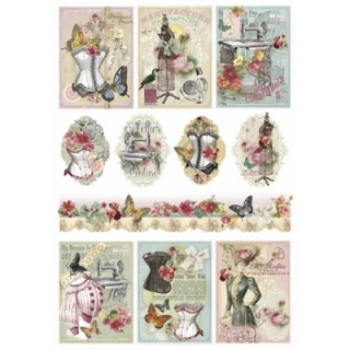 Papel arroz decoupage Atelier du couture