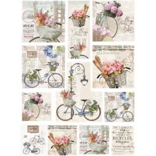 Papel arroz decoupage Bicycle