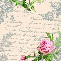 Servilleta decoupage Love letter gray