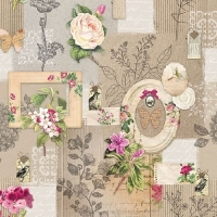 Servilleta decoupage Frames  and flowers