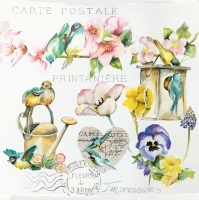 Servilleta decoupage Garden flair