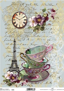 Papel arroz decoupage R0496