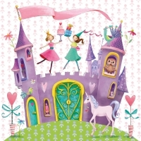 Servilleta decoupage Princess castle