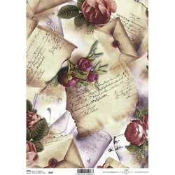 Papel arroz decoupage R0007