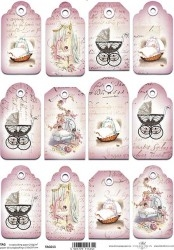 0Papel scrapbooking TAG013 A4