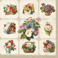 0Servilleta decoupage Comp.Flower white