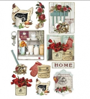 0Papel arroz decoupage Kitchen country