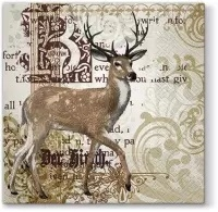 0Servilleta decoupage Majestic Deer