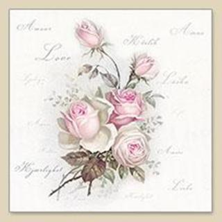 Servilleta decoupage Love Roses