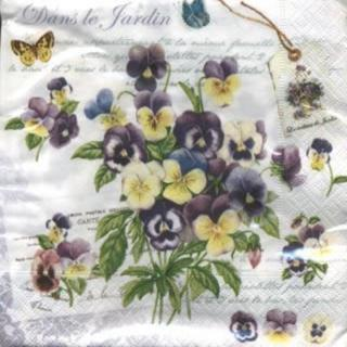 Servilleta decoupage Romantic violets