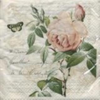 Servilleta decoupage Rose Botanical