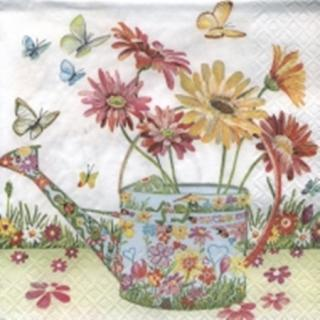 Servilleta decoupage Flowery can